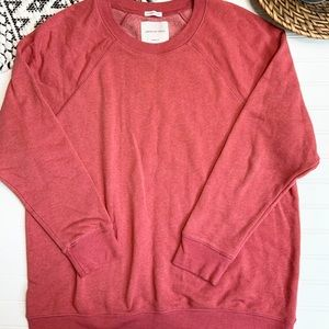AMERICAN EAGLE Red Ahh-Mazingly Soft Sweatshirt